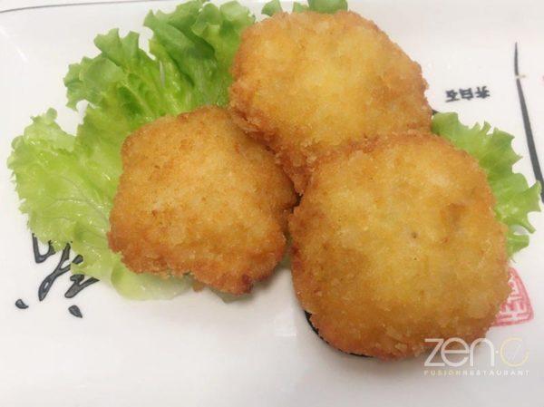 Crocchette di patate con gamberi
