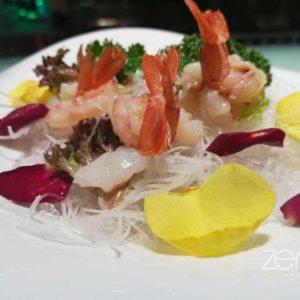 Sashimi gamberi crudo
