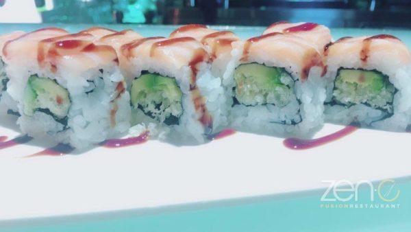 Uramaki sake roll