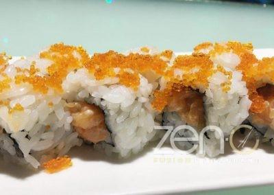 "Uramaki spicy salmon <br> <span class=""dish-desc"">(tartar di salmone, spicy, maionese, tobico esterno)</span>"