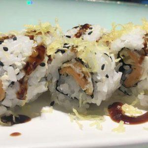 Uramaki vegetarian roll