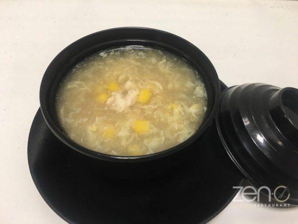 Zuppa pollo e mais