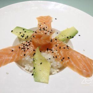 Cirashi salmone avocado